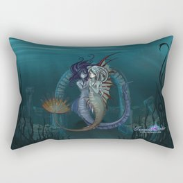 Fantasy style Anime / Manga mermaids Rectangular Pillow