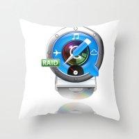 mac Throw Pillows featuring Super-Mac by AJ Calhoun