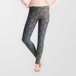 Silver Rainbow Mermaid Scales Leggings