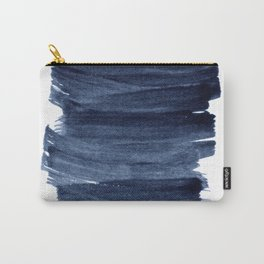 Just Indigo 3   Minimalist Watercolor Abstract Carry-All Pouch