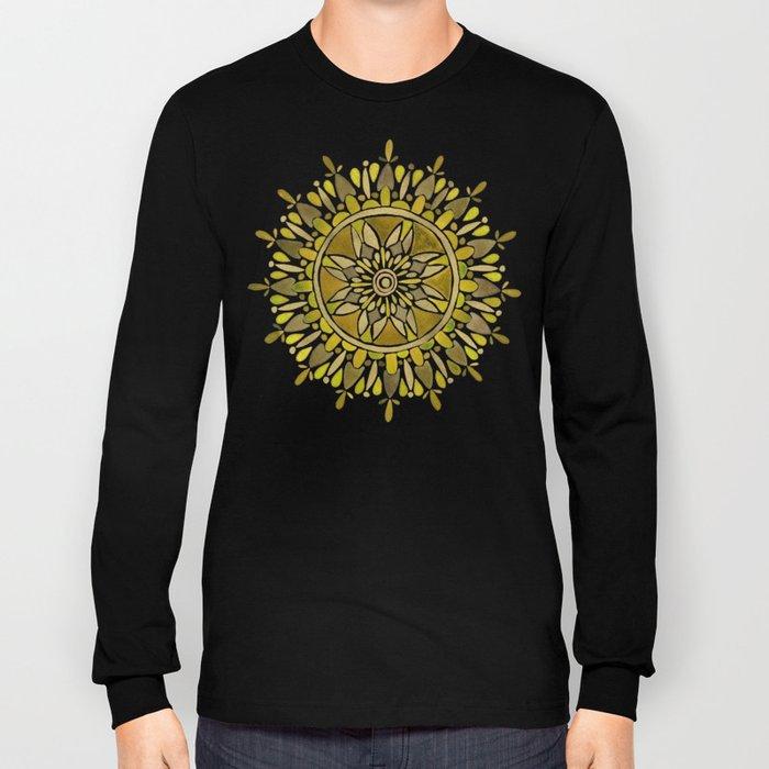 Gold Mandala Long Sleeve T-shirt