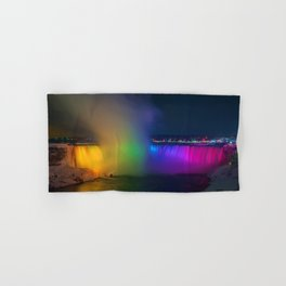 Rainbow Niagara Falls Waterfall (Color) Hand & Bath Towel