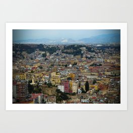 Napoli view Art Print