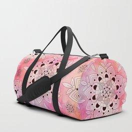 Pink Watercolor Mandala Duffle Bag
