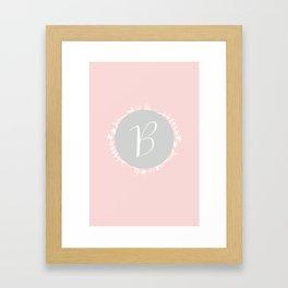 Garland Initial B - Grey Framed Art Print