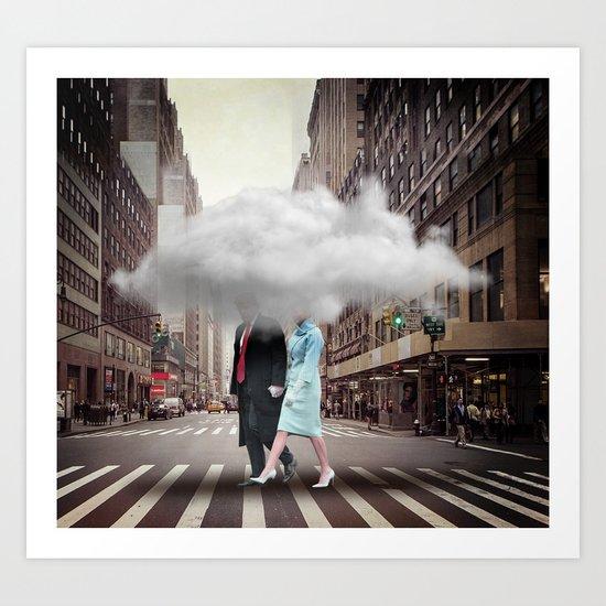 Under a Cloud Art Print