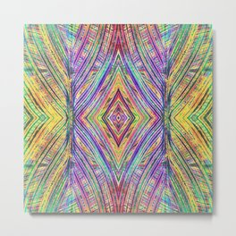 Abstract Leaf Design 726 Metal Print