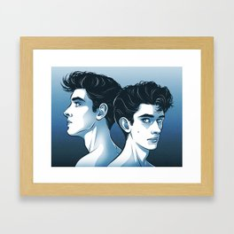 Pompadours Framed Art Print