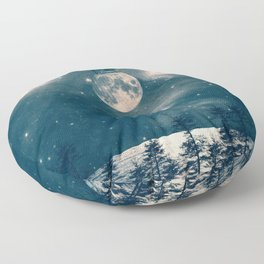 One Day I Fell from My Moon Cottage... Floor Pillow