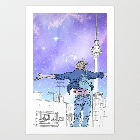 Until The Daylight - Berlin Comic - Piece 2 Art Print