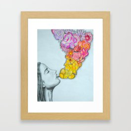 flower smoke Framed Art Print