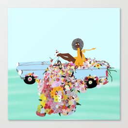 Car full of flowers Canvas Print