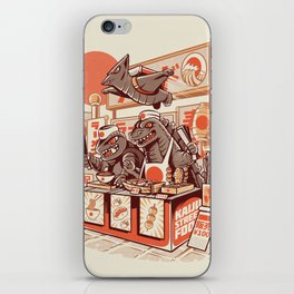 Kaiju street food iPhone Skin
