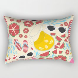 Summer Pool Party Rectangular Pillow