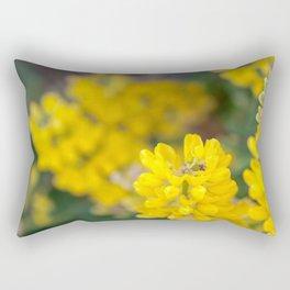 Ladybug in a Yellow Lupin, Dunedin, New Zealand Rectangular Pillow