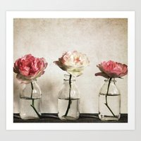 roses Art Prints featuring Roses by Anne Staub