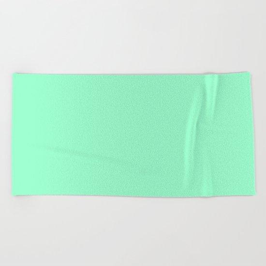 Mint Meringue Beach Towel