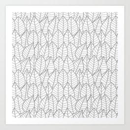 Botanics Gray Outline Art Print