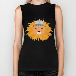 Viking lion head T-Shirt for all Ages Dsok9 Biker Tank