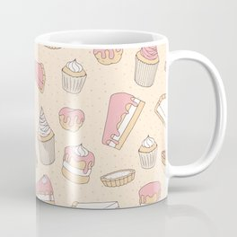 Pink Pastry Pattern Coffee Mug