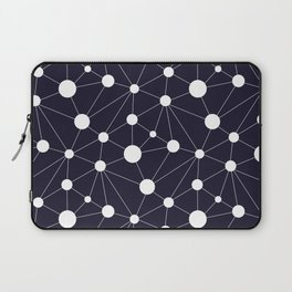 Abstract Network on Navy Laptop Sleeve