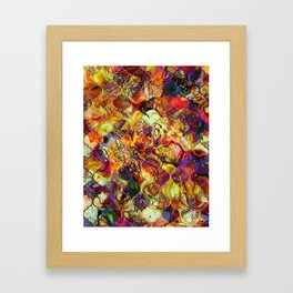 V15 Lovely Traditional Moroccan Pattern Colored Design Waves. Framed Art Print
