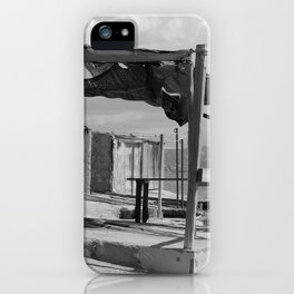 Fisherman's Huts Ibiza bw iPhone Case