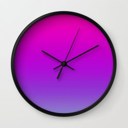 Pink and Purple Ombre Wall Clock