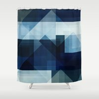 blues Shower Curtains featuring Blues by F. C. Brooks