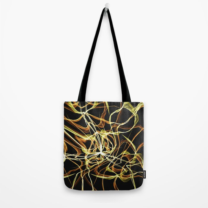 Hearts of Gold Warped Tote Bag