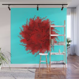 Flower-blown carnations. Memory Colors, school, cottages Wall Mural