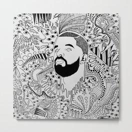 Drippin Drake Metal Print