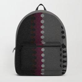 Modern Burgundy Grey Black Stripe Dot Pattern Backpack