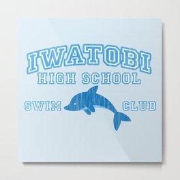 Iwatobi - Dolphin Metal Print
