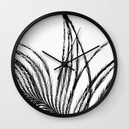 Plume- A Feather Study 1 Wall Clock