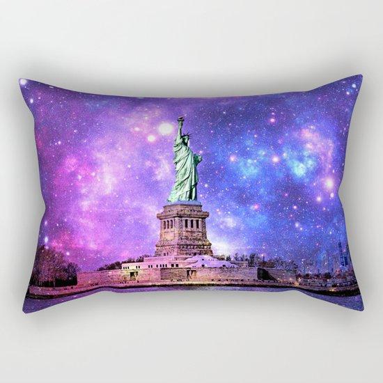 space Statue of Liberty Rectangular Pillow