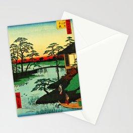 Mokubo Temple on Uchi River Japan Stationery Cards