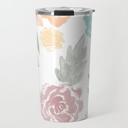watercolour flowers Travel Mug