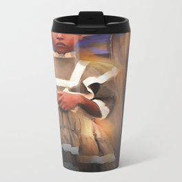 Gentle Dignity / Portrait / Haiti Metal Travel Mug