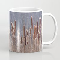 furry Mugs featuring Furry Cattails by DanByTheSea