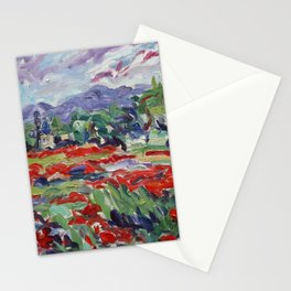 Poppy Fields & Windmill, Château de Sannes Stationery Cards