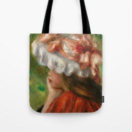 "Auguste Renoir ""Tête de jeune fille (Head of a young girl)"" Tote Bag"