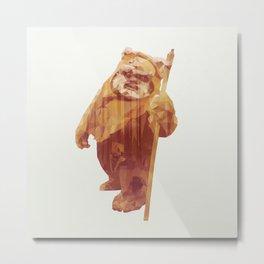 Jittery Little Thing (Ewok) Alternate Metal Print