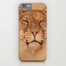 Portrait of a Lioness iPhone Case
