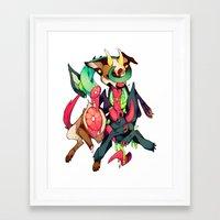 gore Framed Art Prints featuring GLITTER GORE by alipeanut