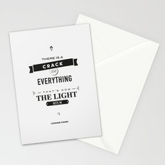 Leonard Cohen, Motivational Quote Stationery Cards