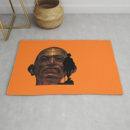 Gandhi - the walk - orange version Rug