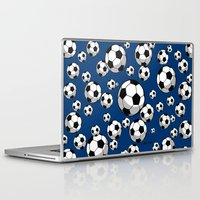 soccer Laptop & iPad Skins featuring Soccer by joanfriends