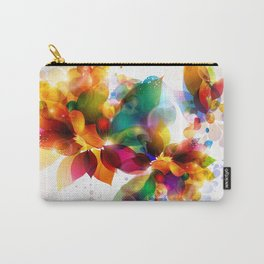 Colorful Floral Carry-All Pouch