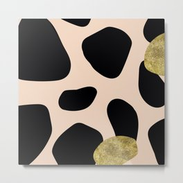 Golden exotics - Cow and soft tangerine Metal Print